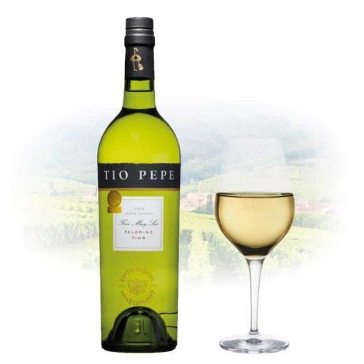 Купить Испанское крепленое вино сухое Херес Jerez Tio Pepe Fino (Тио Пепе Фино)